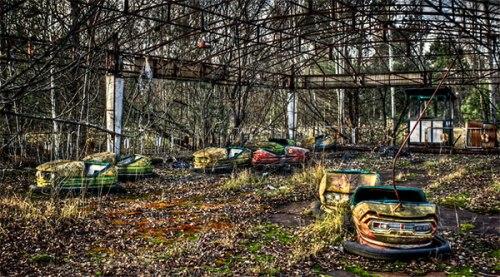 Bumper Cars, in the city of Prypiat, Ukraine