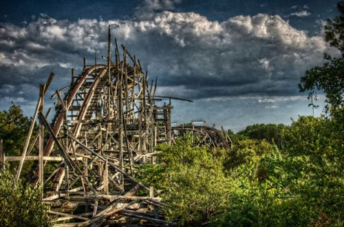 Dartmouth, MA, the remains of Lincoln Park's Comet Roller Coaster