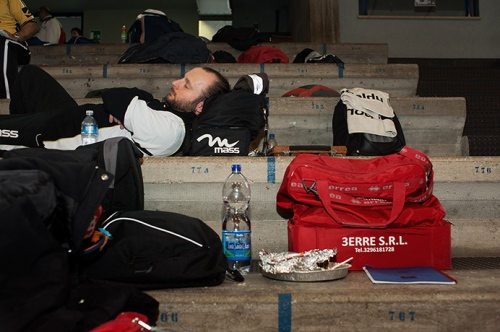 A competitor takes a rest during the Italian championships, Chianciano Terme, 2011