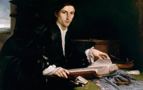 Renaissance man: Portrait of a Young Gentleman in His Studio by Lorenzo Lotto, c. 1530. Gallerie dell'Accademia, Venice.